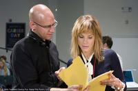 Director Phil Traill and Sandra Bullock on the set of