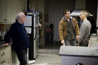 Director Jim Sheridan, Jake Gyllenhaal and Tobey Maguire on the set of