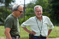 Director Clint Eastwood and director of photography Tom Stern on the set of