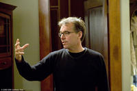Director Chris Columbus on the set of