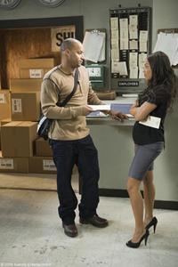 Donald Faison as Leo and Lauren London as Ivy in