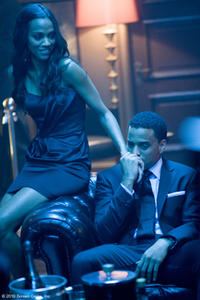 Zoe Saldana as Lilli and Michael Ealy as Jake in