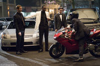 Paul Walker as John, Idris Elba as Gordon and Hayden Christensen as A.J. in