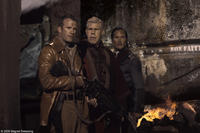 Thomas Jane as Maj. Mitch Hunter, Ron Perlman as Brother Samuel and Benno Furmann as Lt. von Steiner in