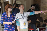 Rumer Willis and director Stewart Hendler on the set of