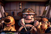 Dug, Carl Fredericksen and Russell in