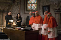 Tom Hanks as Robert Langdon, Ayelet Zurer as Vittoria Vetra, Thure Lindhardt as Chartrand, unidentified clergyman, Armin Mueller-Stahl as Cardinal Straus, Rance Howard as clergyman and unidentified clergyman in
