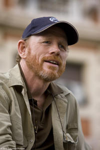 Director Ron Howard on the set of