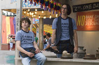 Jesse Eisenberg as James and Martin Starr as Joel in