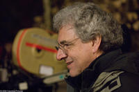 Director-writer Harold Ramis on the set of