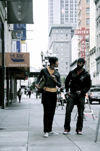 Tracey Heggins as Jo and Wyatt Cenac as Micah in