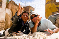 Shia LaBeouf and director Michael Bay on the set of