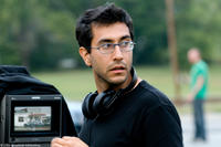 Director Ramin Bahrani on the set of