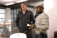 Director Steve Shill and producer Will Packer on the set of