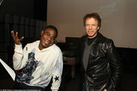 Actor Tracy Morgan and producer Jerry Bruckheimer on the set of