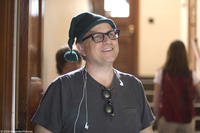Director Bobcat Goldthwait on the set of