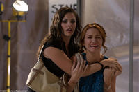 Haley Webb as Janet and Shantel Van Santen as Lori in