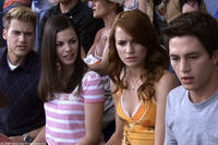 Nick Zano as Hunt, Haley Webb as Janet, Shantel Van Santen as Lori and Bobby Campo as Nick in
