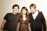 Mark Duplass, director Lynn Shelton and Joshua Leonard on the set of