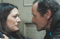 Lisa Houle as Sydney Briar and Stephen McHattie as Grant Mazzy in