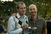 Gustaf Skarsgard as Goran and Torkel Petersson as Sven in