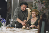 Director Stephen Frears and Michelle Pfeiffer on the set of