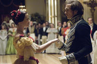Emily Blunt as Queen Victoria and Rupert Friend as Prince Albert in