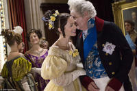 Emily Blunt as Victoria and Jim Broadbent as King William in