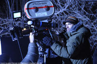 Filmmaker Vincenzo Natali on the set of