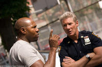 Filmmaker Antoine Fuqua and Richard Gere on the set of