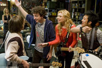 Charlie Saxton, Gaelan Connell as Will, Alyson Michalka as Charlotte and Tim Jo in