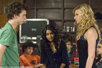 Gaelan Connell as Will, Vanessa Hudgens as Sa5m and Aly Michalka as Charlotte in