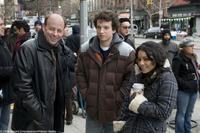 Director Todd Graff, Gaelan Connell and Vanessa Hudgens on the set of