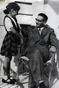 Kasztner and daughter Zsuzsi.