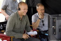 Director-writer Mike Judge on the set of