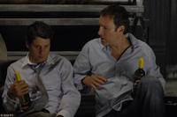 Gary Wilmes as Cal and John Corbett as Greg in