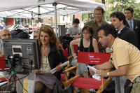 Director Nia Vardalos on the set of
