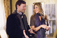 Writer-director Brandon Camp and Jennifer Aniston on the set of