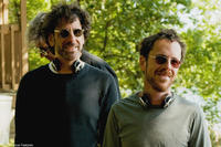 Writers-directors Joel and Ethan Coen on the set of