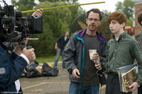 Director-writer Ethan Coen and Aaron Wolff on the set of