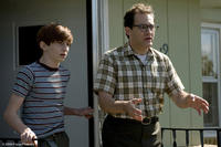 Aaron Wolff as Danny Gopnik and Michael Stuhlbarg as Larry Gopnik in