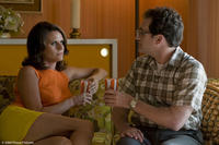 Amy Landecker as Mrs. Samsky and Michael Stuhlbarg as Larry Gopnik in
