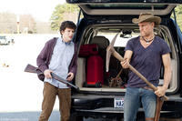 Jesse Eisenberg as Columbus and Woody Harrelson as Tallahassee in