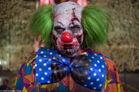 A zombie clown in