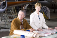 Richard Gere as George Putnam and Hilary Swank as Amelia Earhart in