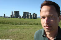 Filmmaker Roger Nygard at Stonehenge in