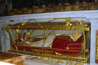The remains of Pope John XXIII on display at the Vatican in