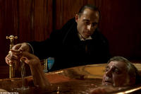 Mark Strong as Lord Blackwood and James Fox as Sir Thomas Rotheram in