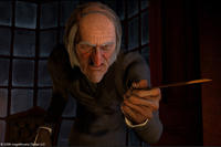 Ebenezer Scrooge (voice of Jim Carrey) in