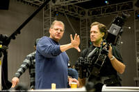 Writer-director-producer Robert Zemeckis and cinematographer Robert Presley on the set of